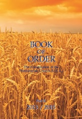 Photo of the cover of the Book of Order